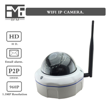 BFM HD WiFi wireless audio 960P 1.3MP security metal explosion-proof dome IP camera h.264 Internet surveillance camera P2P ONVIF