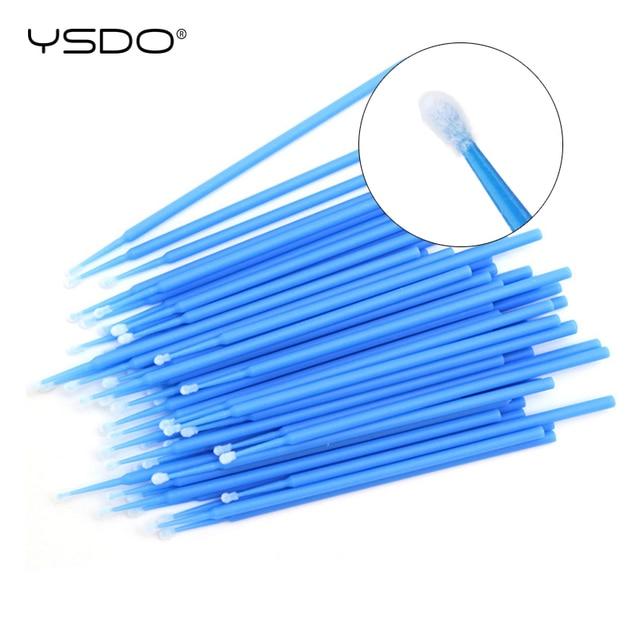 100 PCS Disposable Cotton Swab Eyelash Extension Tools Mascara Applicator Brush lashes extension makeup applicator remove tool 3
