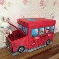 Многофункциональный Мультфильм Автобус Складной Ящик Для Хранения Нетканый материал Сумка Для Хранения Складной Организатор Одежда детская игрушка коробка