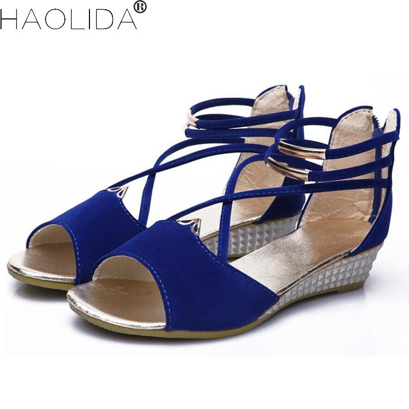2018 New Women's Sandals Shoes Woman Wedges Heels Sandals Women's Summer Shoes Gladiator Sandals Ladies Wedge Shoes For Woman ekoak new 2018 summer shoes woman fashion crystal women sandals ladies wedges platform shoes woman party shoes gladiator sandals