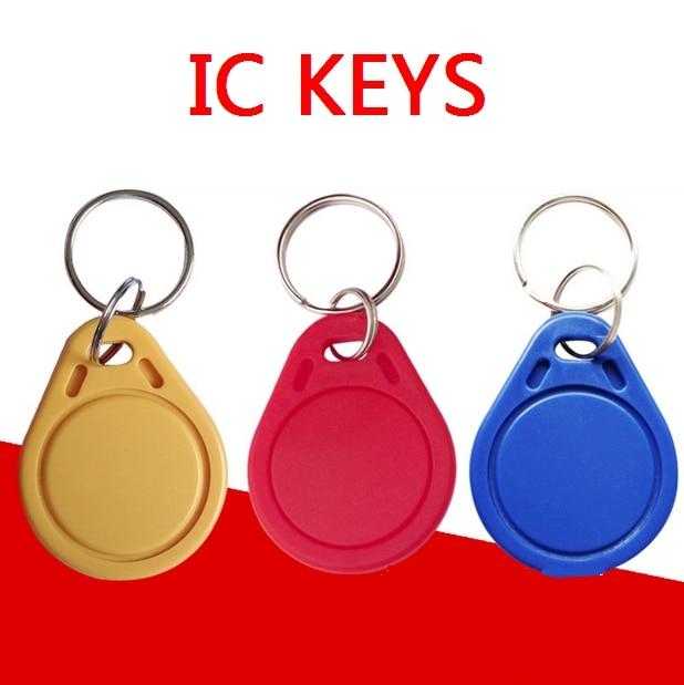 No 3 : 100pcs Rfid Tag 13.56Khz Proximity RFID Card Keyfobs Access Control Smart Card Blue Yellow Red