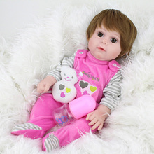 Big eyes cute Baby Dolls Reborn 43 cm Girls silicone vinyl Toys Gift For boy With Plush Toy Real bebek Dolls Playmate Bath doll japanese female full siize silicone 158cm sex dolls small breast with skeleton real solid anime love dolls for men