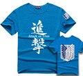 Attack On Titan T Shirt Anime Men T-Shirt Shingeki No Kyojin Tshirt Survey Corps Logo