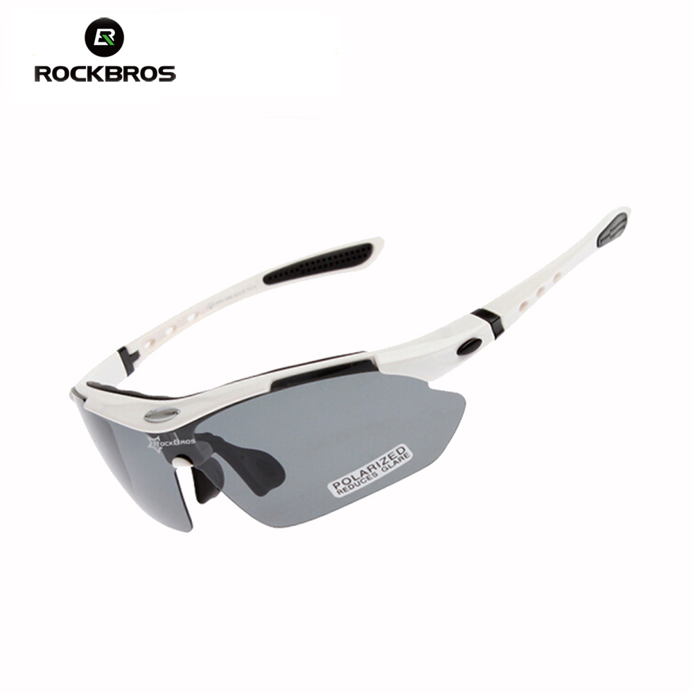 Hot! RockBros Polarized Sun Glasses Outdoor Sports Bicycle Bike Camping Travel Fishing Sunglasses TR90 Goggles Eyewear, 5 Lens стоимость