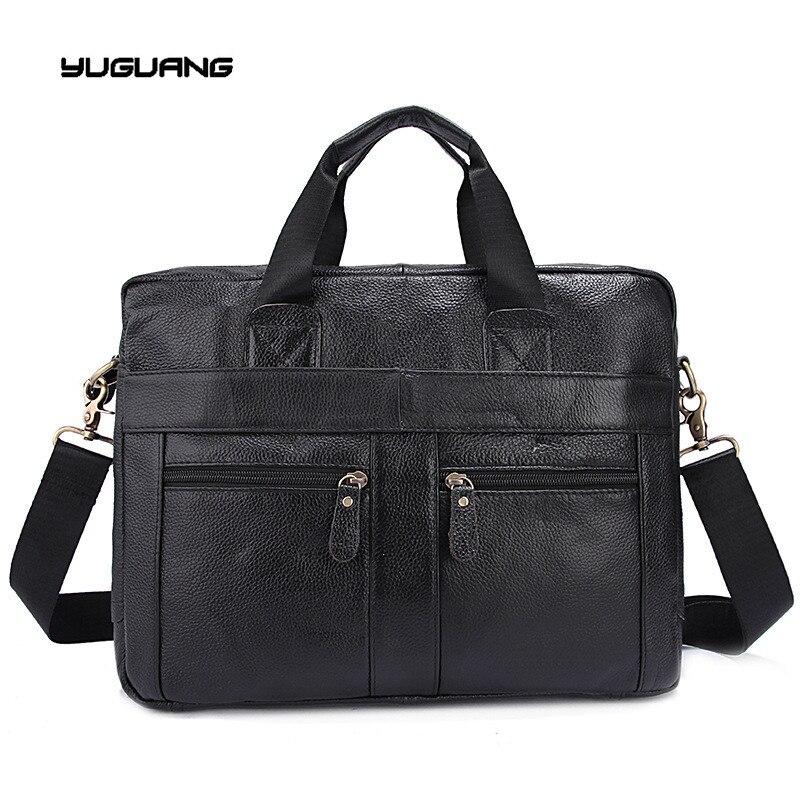 Genuine font b Leather b font Men Bag Men Messenger Shoulder Bags Men s Crossbody Bag