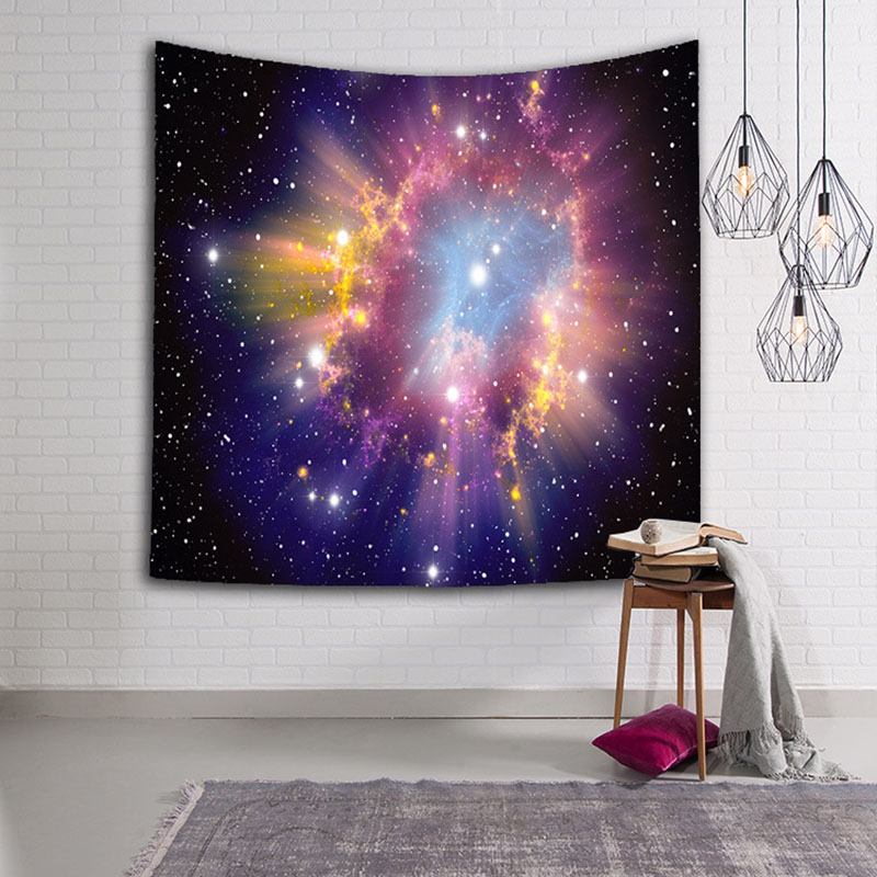 Fabrics Galaxy Tapestry Summer Decoration Wall Hanging Towel Bedspread Mat For The Beach 2018