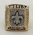 Wholesale New design 2009 New Orleans Saints Super Bowl Zinc Alloy custom gold plated Sports Replica World Men Championship Ring