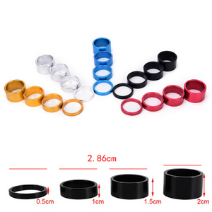 Gmarty 4Pcs/lot Bike Fork Washer Stem Spacers Aluminum Alloy Bicycle Headset Washer Raise Handlebar 5-20mm For MTB Cycling(China)