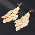 Bohemia Classic Ethnic Gold Plated Triangle Statement Earrings For Women 2015 Brincos Grandes