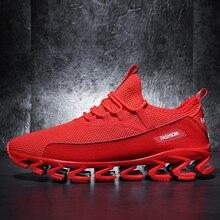 Красная обувь мужские кроссовки дышащая Спортивная обувь мягкая зимняя Sapatos Homem