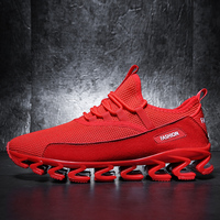 Red Shoes Men Sneakers Running Shoes Breathable Sport Shoes Soft Winter Sapatos Homem