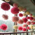 "Holiday Supplies 8"" (20 CM) Decoration Cheap Chinese Tissue Paper Pompoms Pom Poms Flower Balls decoraciones for Wedding Party"