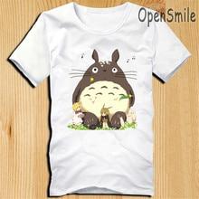 2016 kawaii Women Couple T Shirt Harajuku Animal Totoro Print Casual short sleeve Emoji Funny Graphic t shirts plus size s-xxxl