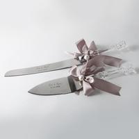 Personalized Wedding Cake Knife Set Acrylic Handle Stainless Steel Cake Knife Server Set Customized Wedding Gifts