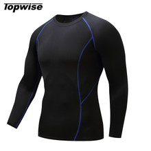 Quick Dry Men Fit Long Sleeve Compression Running T Shirt Men Sports Fitness Gym Football Jogging Crossfit Under Tee Tops