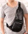 2017 Men's Vintage Genuine Leather Travel Riding Messenger Shoulder Sling Chest Casual Bag