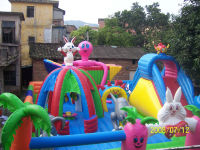 Inflatable fun city for kids
