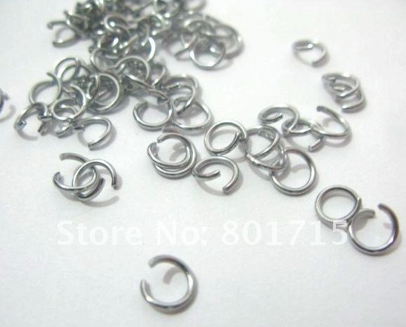100 Pcs sliver color Open Jump Rings 8mm Dia Findings