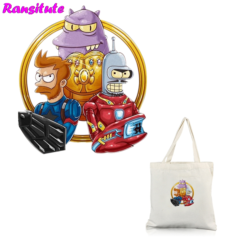 R269 Futurama Personality DIY Sticker Patch Couple Package A Grade Powder Thermal Transfer Decoration Hot Map