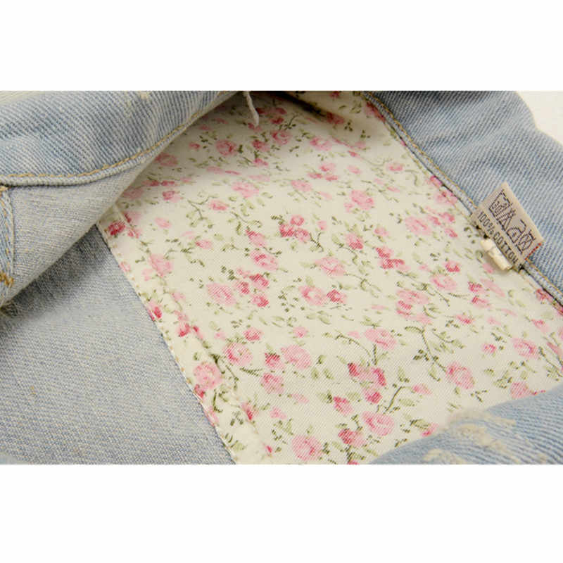 Винтажный весенний джинсовый жилет женский 2018 бренд дизайн джинсы женский жилет короткий жилет плюс размер отверстие Женская куртка без рукавов 5XL