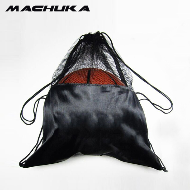 MACHUKA Large capacity Portable Net Basketball Football Bag Men drawstring backpack shou ...