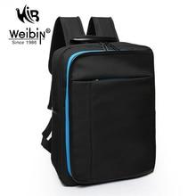 Weibin mochila de los hombres de los hombres mochilas escolares para adolescentes mujeres de nylon de alta calidad negro bolsas de viaje de 15.6 pulgadas laptop back paquete