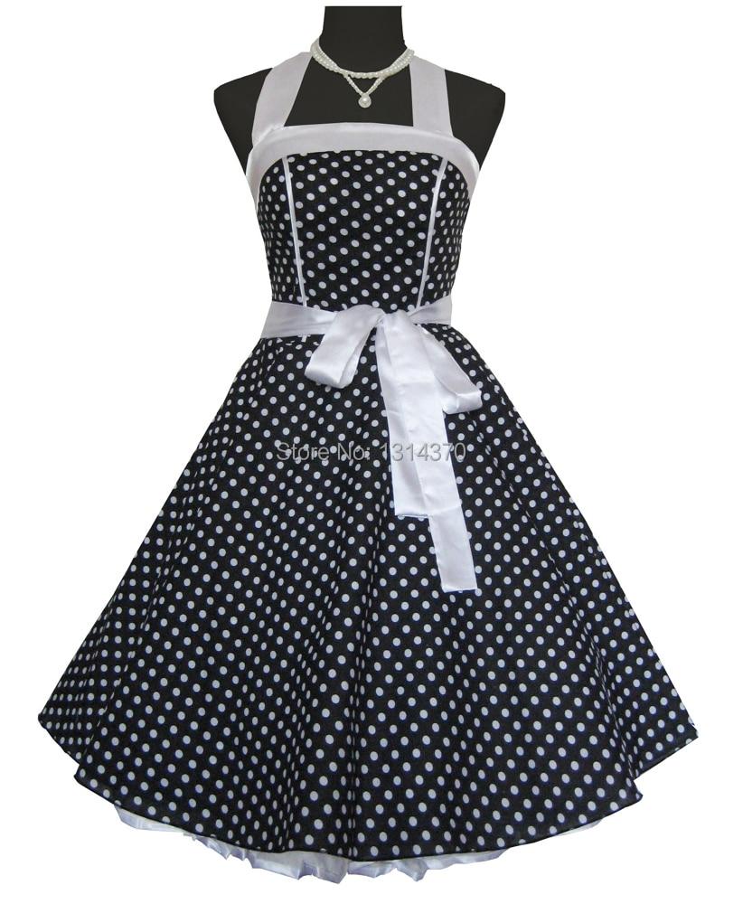 Moterys vasaros 50-ųjų 60-ųjų sūpynės Vintage retro stiliaus - Moteriški drabužiai - Nuotrauka 2