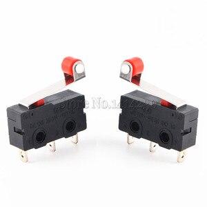 Image 2 - Mini Micro interrupteur offre spéciale, 3 broches, avec rouleau de limitation, 10 pièces