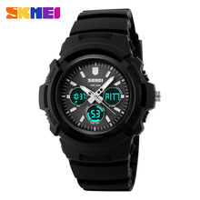 2016 New SKMEI Luxury Brand Men Military Sports Watches Digital LED Quartz Fashion Double Display Waterproof Wristwatches