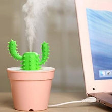 Office USB Gadgets Cool Mini Cactus Air Humidifier USB Cool Mist Portable Ultra-Quiet 200ml