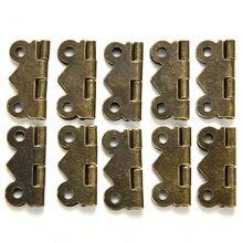 Design de moda Amarelo bronze 10x Mini Borboleta Porta Gaveta Do Armário Dobradiça Caixa De Jóias Mobiliário 20mm x 17mm