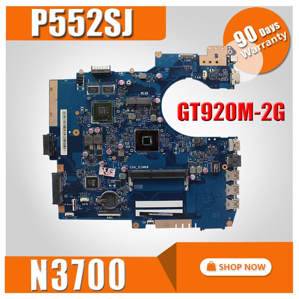 P552SJ motherboard GT920M-2G N3700 CPU for ASUS P552SJ P552SA P552S P552 Laptop motherboard P552SJ mainboard P552SJ motherboardP552SJ motherboard GT920M-2G N3700 CPU for ASUS P552SJ P552SA P552S P552 Laptop motherboard P552SJ mainboard P552SJ motherboard