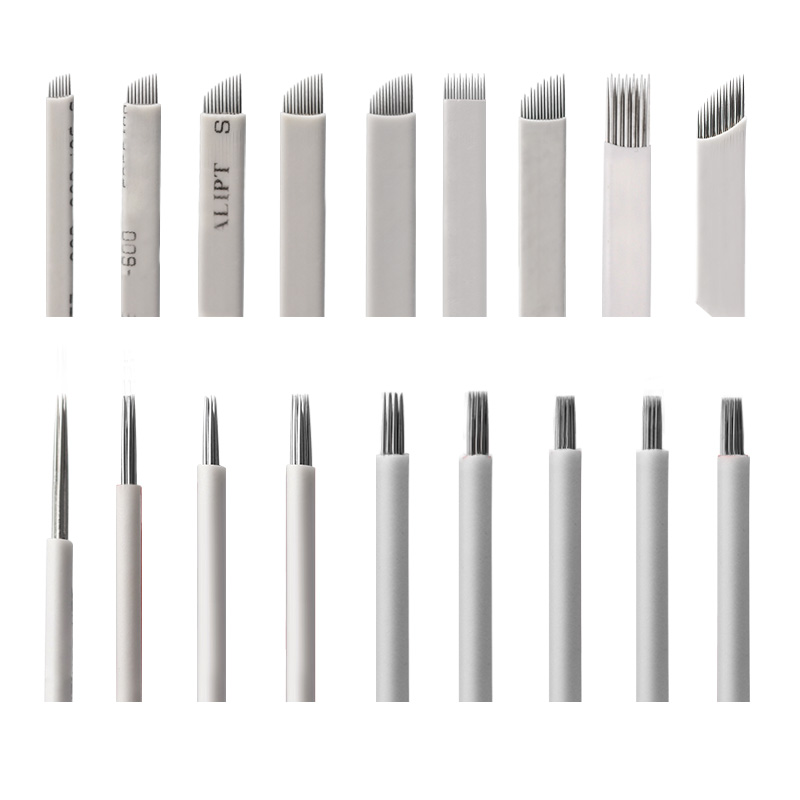 500Pcs 7 9 10 12 14 16 18 21 Pin U Shape Microblading Needles Permanent Makeup