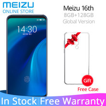 Resmi Küresel sürüm Meizu 16th 8 GB RAM 128 GB ROM Cep Telefonu Snapdragon 845 Octa Çekirdek 6.0