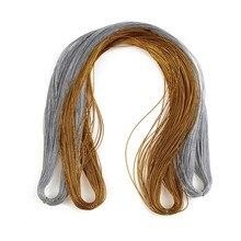 Диаметр 0,5 мм цвета: золотистый, серебристый Цвет атласный нейлоновый шнур идеально подходит для изготовления ювелирных изделий DIY Цепочки и ожерелья Аксессуары 100 м