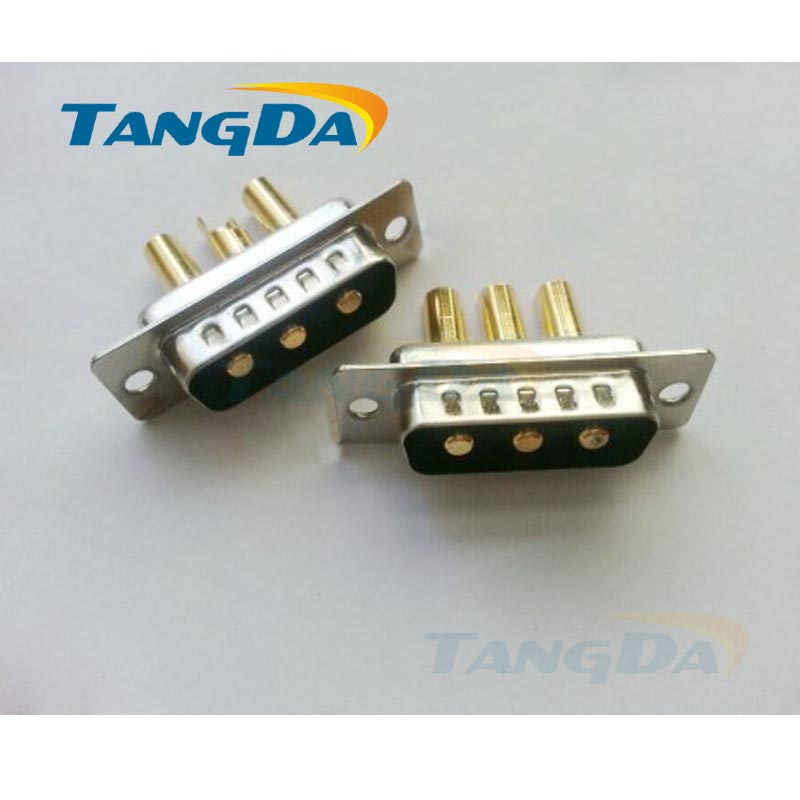 Tangda big High current connector 3 core 3p welding wire 3W3 pin 3V3 DB male connector plug D-SUB Socket 3pin tangda connectors servo motor plug aviation plug vw3m8122 17p 17pin 17 core ms3108b 20 29s elbow ydm30200447 a