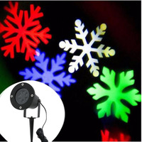 Merry Christmas Lights Outdoor LED Snowflake Projector Light Star Lawn Lamps Light Waterproof Snow Lasers Christmas