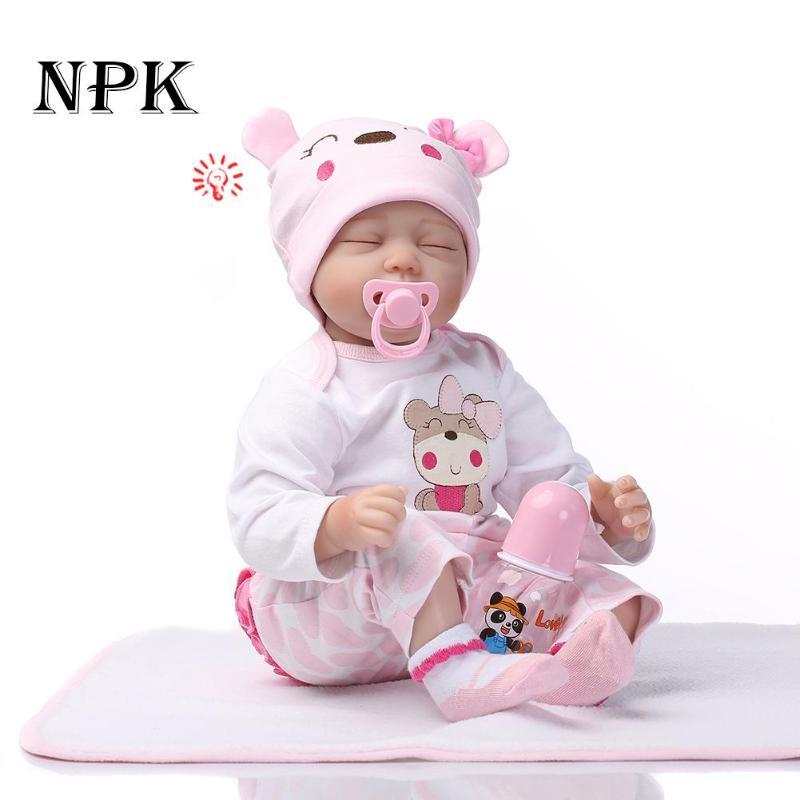 55 см NPK Baby Reborn кукла с одеждой полный корпус силиконовый винил очаровательные реалистичные детские куклы Девочки Дети Reborn куклы Playmate Gif