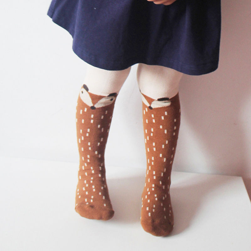 Cute Baby Kids Girls Stockings Cotton Fox Tights Stocking Hosiery Pantyhose Toddler Girls Clothing Accessories 1-5T