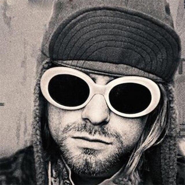 285445032b Long Keeper Hot Sale Retro Vintage Women Men NIRVANA Kurt Cobain Sunglasses  Lattice Oval Sun Glasses