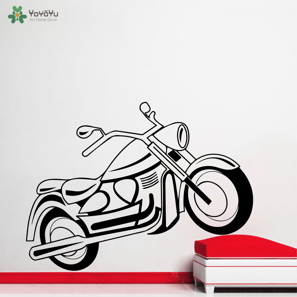 YOYOYU Wall Decal Vinyl Art Home Decor Sticker Bike Motorcycle Sport Decal Kids Room Decoration Removeable Poster YO473 in Wall Stickers from Home Garden