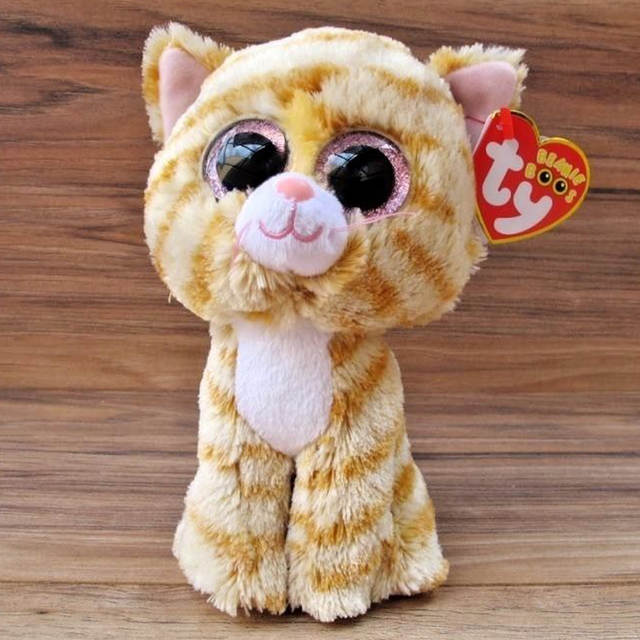 Online Shop Pyoopeo Ty Beanie Boos 6 15cm Tabitha Yellow Cat Plush