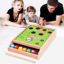 Children's mini-billiards game, mini-billiards concentrate interaction, baby puzzle parent-child training toy party game factory direct wholesale billiard game billiards color matching cognitive parent child game desktop classic toys kids wood toys
