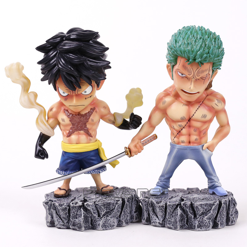 Anime One Piece Underworld Luffy / Zoro PVC Figure Collectible Model Toy 17cm anime one piece dracula mihawk model garage kit pvc action figure classic collection toy doll