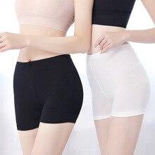 Big size M-3XL Sexy Lace Ultra thin Skinny Elastic mid Waist Safe Shorts Summer Women sleep dress boyshort seamless underpant