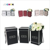 3pcs Set Flowers Packing Box High Tube Square Bucket Flower Box Gift Box Wedding Party Gift