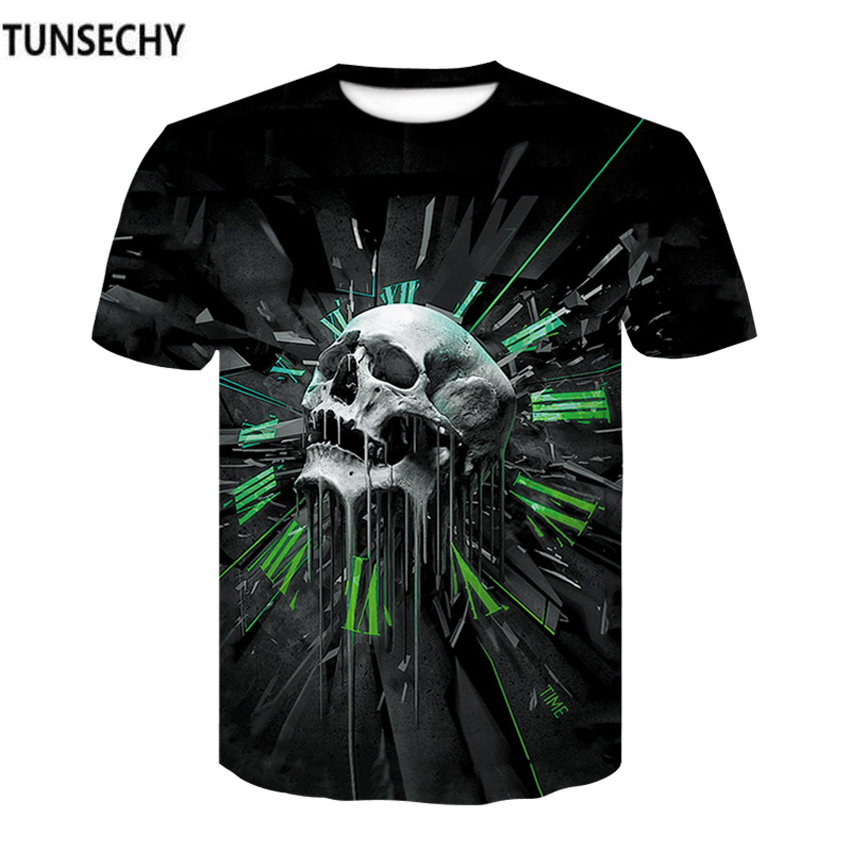 TUNSECHY Brand Summer Short Sleeve 3D T Shirt casual Men T-Shirt Quick drying Fitness Compression Shirt Wholesale and retail