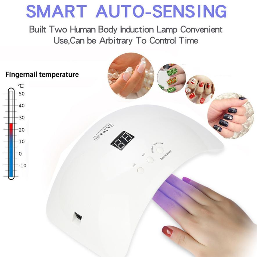 Beauty 48W LED UV Nail Gel Curing Lamp Light Nail Gel Polish Dryer Nail Art Machine drop shipping may10