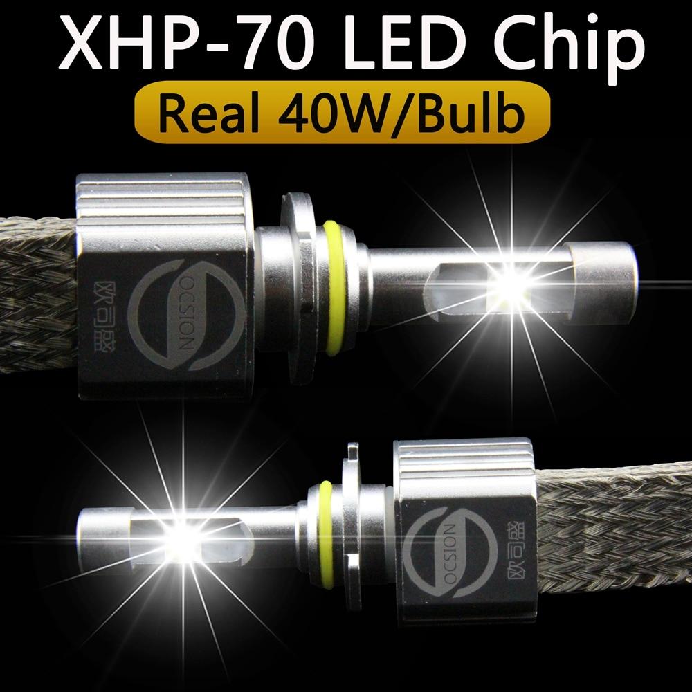 где купить 9012 Hir2 LED Headlights 6000k 110w 13200lm XHP70 XHP-70 Car Headlight Bulbs Motorcycle Headlamp Kit H4 H7 H11 HB3 HB4 дешево