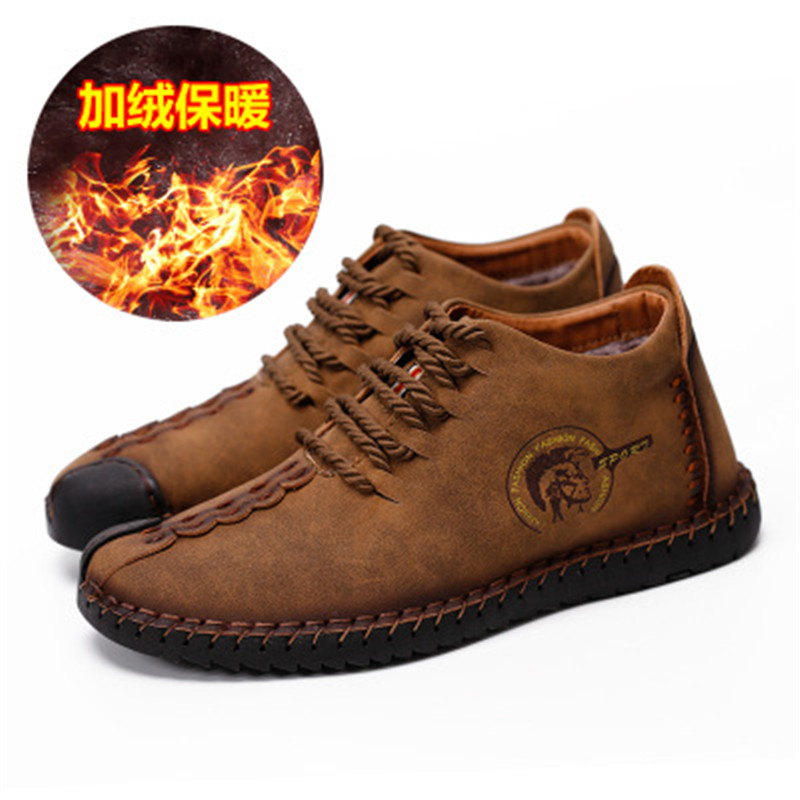 2018 Fashion Leather Shoes Men Full Handtailor Vintage Sneakers Huarache Moccasins Non slip Super Hot Flats Black Plus Sizes 46 in Men 39 s Casual Shoes from Shoes